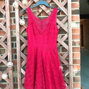Red Lace Dress Juniors